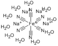 Sodium ferrocyanide Structure