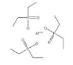 Diethyl phosphinic acid aluminum Structure