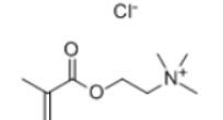 Methacrylatoethyl Trimethyl Ammonium Chloride Structure