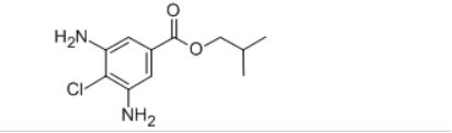 Isobutyl 3,5-diamino-4-chloro benzoate Structure