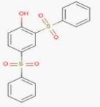 2,4-Bis(phenylsulfonyl)phenol Structure