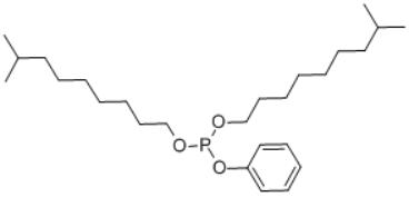 Diisodecyl Phenyl Phosphite Structure