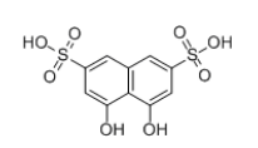 1,8-Dihydroxynaphthylene-3,6-disulfonic acid Structural