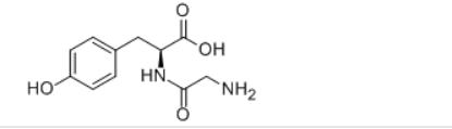 N-Glycyl-L-Tyrosine Structure