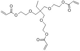 Ethoxylated trimethylolpropane triacrylate Structure