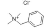 Benzyltrimethylammonium chloride Structure