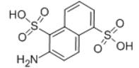 2-Amino-1,5-naphthalenedisulfonic acid Structure