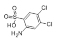 3,4-Dichloroaniline-6-sulfonic acid Structural