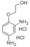 2-(2,4-Diaminophenoxy)ethanol dihydrochloride structure