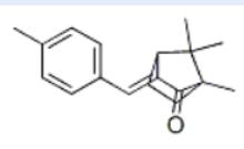 3-(4-methylbenzylidene)-camphor Sructure