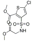 Methyl 5-chloro-N-(methoxycarbonylmethyl)-3-sulfamoylthiophene-2- carboxylate Structure