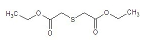 Diethyl thioglycolate structure