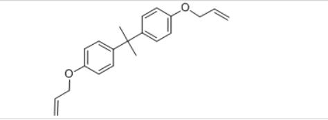 Bisphenol A bisallyl ether Structure
