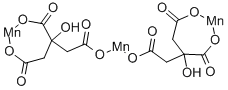 Manganese(II) citrate Structure