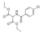 Diethyl 2-[4-(chlorobenzoylamino]Malonate Structure