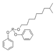 Isooctyl Diphenyl Phosphite Structure