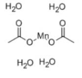 Manganese Acetate Tetrahydrate Structure