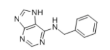 6-Benzylaminopurine Structure