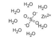 Zinc sulfate heptahydrate Structure