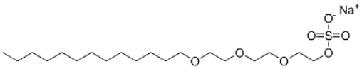 Sodium trideceth sulfate Structure
