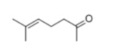 Methyl heptenone Structure