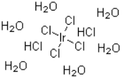 Hexachloroiridic acid hexahydrate Structure