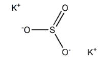 Potassium sulfite Structure