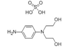 N,N-Bis(2-hydroxyethyl)-p-phenylenediamine sulphate Structure