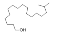 Isotearyl Alcohol Structure