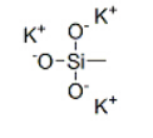 Potassium methylsilanetriolate Structure