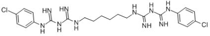 Chlorhexidine Structure