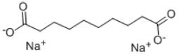Disodium sebacate Structure