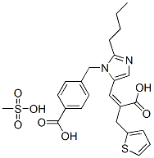Eprosartan mesylate Structure
