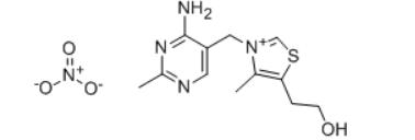 Thiamine mononitrate Structure