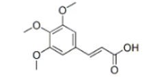 3,4,5-Trimethoxycinmic acid Structure