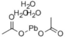 Lead acetate trihydrate Structure