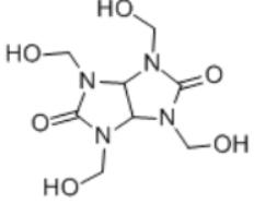 Tetramethylol acetylenediurea Structure