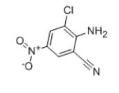 2-Amino-3-chloro-5-nitrobenzonitrile Structural