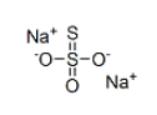 Sodium thiosulfate Structure
