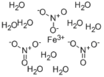 Ferric nitrate nonahydrate Structure