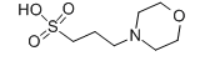 3-Morpholinopropanesulfonic acid Structure